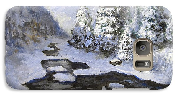 Galaxy Case featuring the painting New Snow by Carol Hart