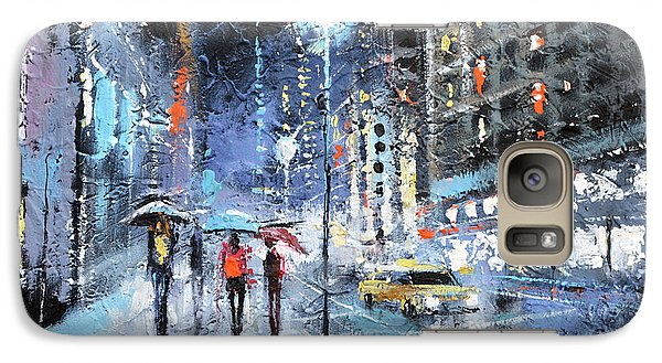 Galaxy Case featuring the painting Night City by Dmitry Spiros