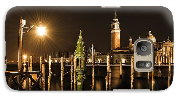 Galaxy Case featuring the photograph Night Lights by Marion Galt