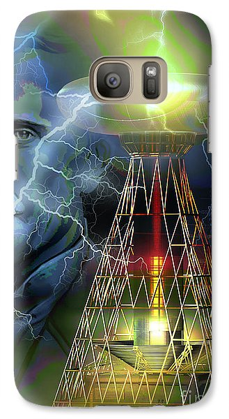 Galaxy Case featuring the digital art Nikola Tesla by Shadowlea Is