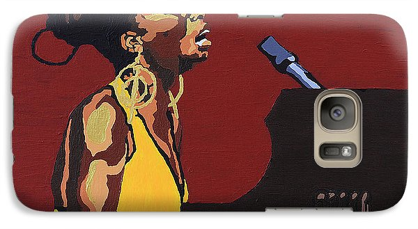 Galaxy Case featuring the painting Nina Simone by Rachel Natalie Rawlins