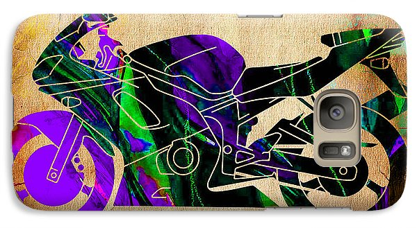 Ninja Motorcycle Painting Galaxy Case by Marvin Blaine