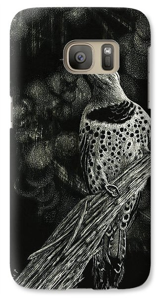 Galaxy Case featuring the drawing Northern Flicker by Sandra LaFaut