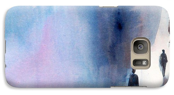 Galaxy Case featuring the painting The Only Way by Ed  Heaton