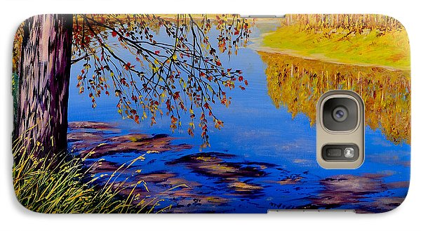 Galaxy Case featuring the painting October Afternoon by Sher Nasser