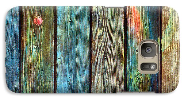 Galaxy Case featuring the sculpture Old Barnyard Gate With Colors Brightened by Asha Carolyn Young