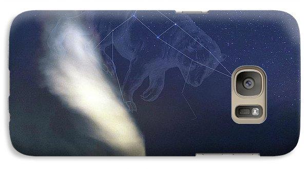 Old Faithful Geyser And Ursa Major Stars Galaxy Case by Babak Tafreshi