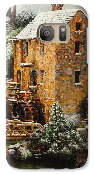 Galaxy Case featuring the painting Old Mill In Winter by Glenn Beasley