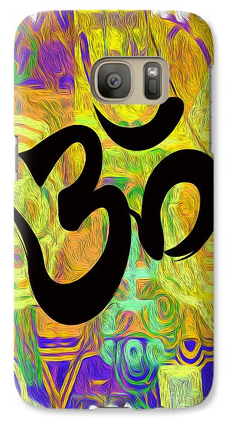 Galaxy Case featuring the digital art OM by Gregory Dyer