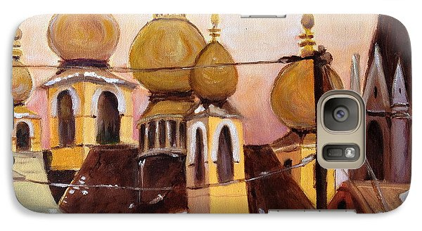 Galaxy Case featuring the painting Onion Domes by Julie Todd-Cundiff