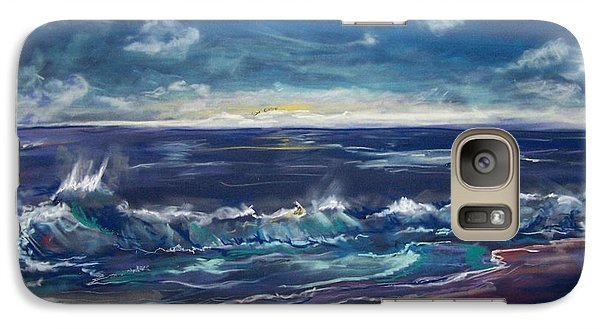 Galaxy Case featuring the pastel Open Sea by Peter Suhocke
