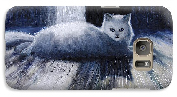 Galaxy Case featuring the painting Opie by Ron Richard Baviello