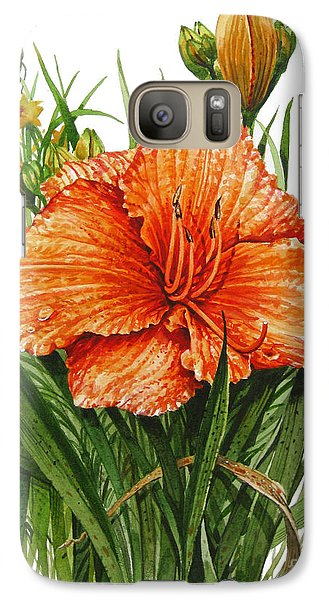 Galaxy Case featuring the painting Orange Lily by Bob  George