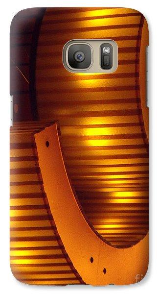 Galaxy Case featuring the photograph Orange Swirl 9 by Lyric Lucas