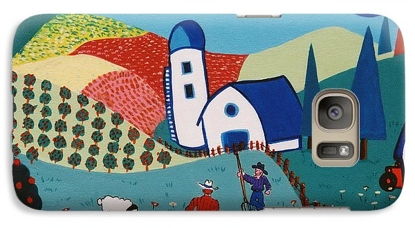 Galaxy Case featuring the painting Orchard Orators by Joyce Gebauer