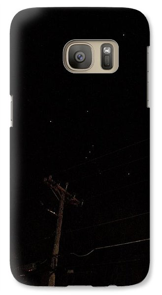 Galaxy Case featuring the photograph Orion And Telephone Pole by Steven Richman
