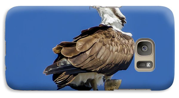 Galaxy Case featuring the photograph Osprey With Fish In Talons by Dale Powell