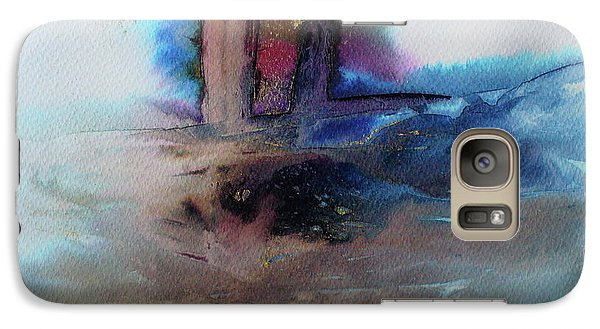 Galaxy Case featuring the painting Out Of The Mist by Mary Sullivan