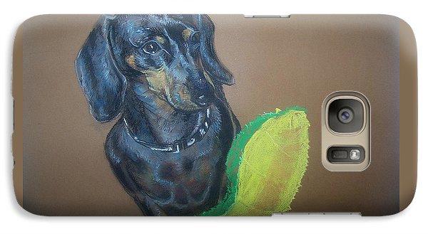 Galaxy Case featuring the pastel Ozzie Dashound by Peter Suhocke