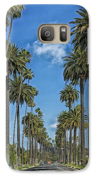 Beverly Hills Galaxy S7 Case - Palms Of Beverly Hills by Mountain Dreams