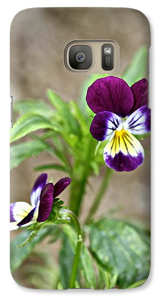 Galaxy Case featuring the photograph Pansy by Michaela Preston