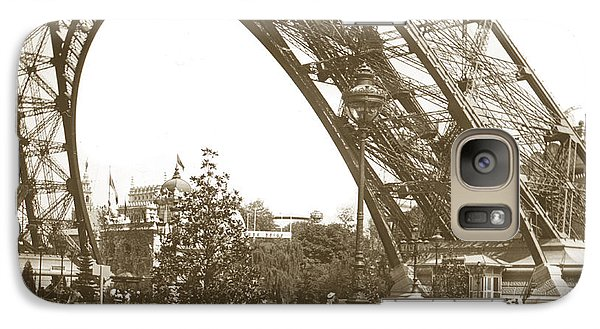 Galaxy Case featuring the photograph Paris Exposition Eiffel Tower Paris France 1900  Historical Photos by California Views Mr Pat Hathaway Archives