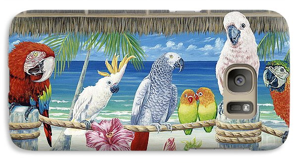 Parrots In Paradise Galaxy S7 Case by Danielle  Perry