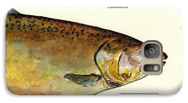 Salmon Galaxy S7 Case - 1 Part Chinook King Salmon by Juan  Bosco