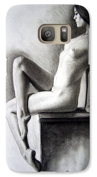 Galaxy Case featuring the drawing Pedestal  by Joseph Ogle