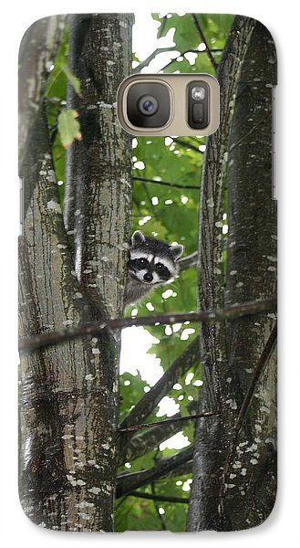 Galaxy Case featuring the photograph Peeking At Me by Myrna Walsh
