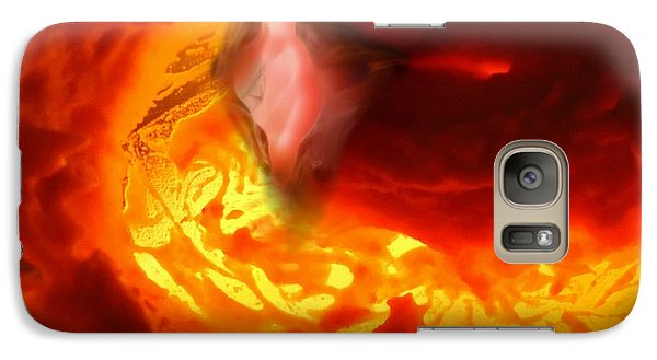 Galaxy Case featuring the mixed media Pele Goddess Of Fire And Volcanoes by Steed Edwards