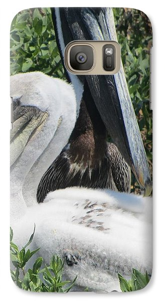 Galaxy Case featuring the photograph Pelicans Of Beacon Island 2 by Cathy Lindsey