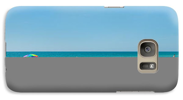 People On The Beach, Venice Beach, Gulf Galaxy S7 Case