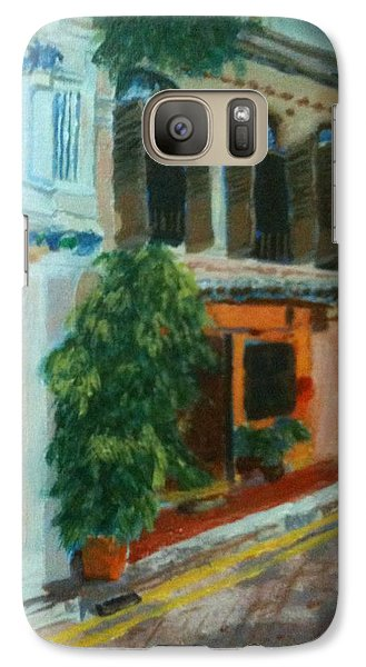 Galaxy Case featuring the painting Peranakan House by Belinda Low