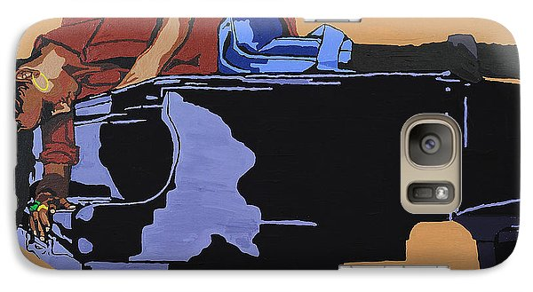 Galaxy Case featuring the painting Piano And I by Rachel Natalie Rawlins