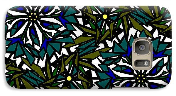 Galaxy Case featuring the digital art Pin-wheel Flowers by Elizabeth McTaggart