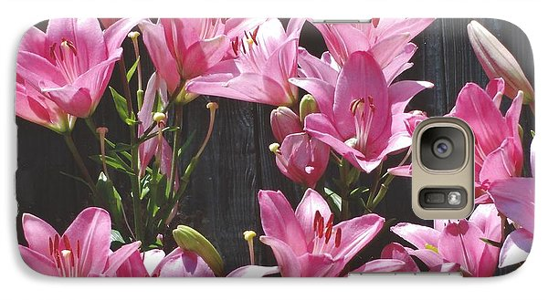 Galaxy S7 Case featuring the photograph Pink Asiatic Lilies by Rod Ismay