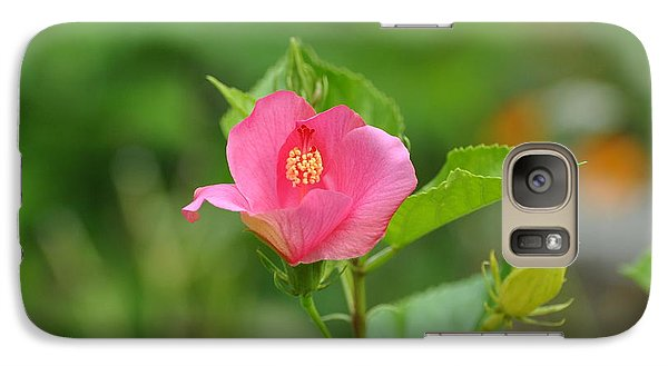 Galaxy Case featuring the photograph Pink Hybiscus Bud by Jodi Terracina