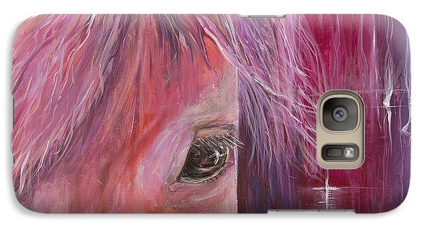 Galaxy Case featuring the painting Pink Pony by Cathy Long