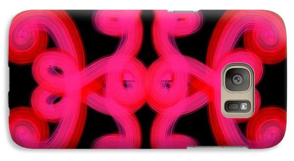 Galaxy Case featuring the digital art Pink Scroll by Christine Fournier