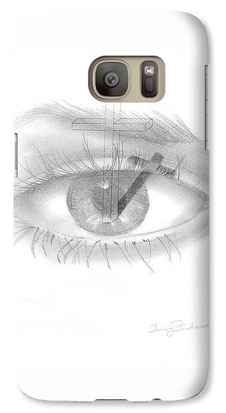 Galaxy Case featuring the drawing Plank In Eye by Terry Frederick