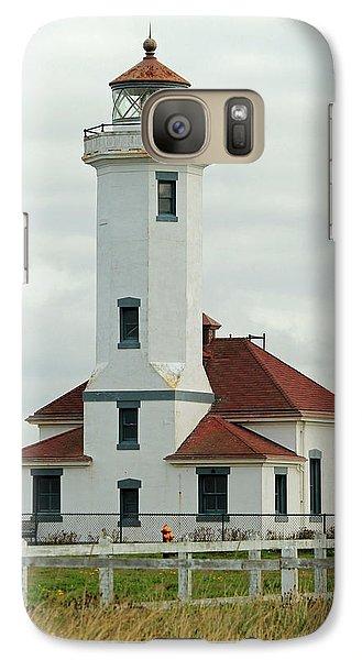 Galaxy Case featuring the photograph Point Wilson Lighthouse by E Faithe Lester