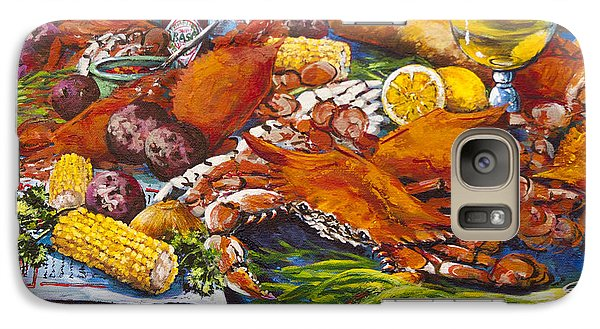 Galaxy Case featuring the painting Pontchartrain Crabs by Dianne Parks