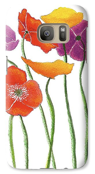 Galaxy Case featuring the painting Poppies A Plenty by Nan Wright