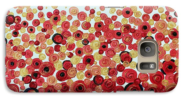 Galaxy Case featuring the painting Poppies by Stacey Zimmerman