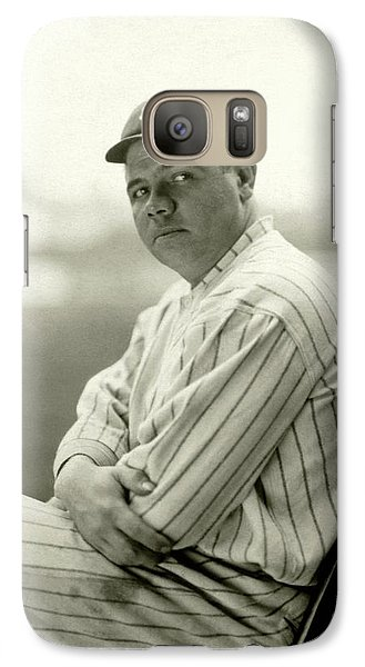 Portrait Of Babe Ruth Galaxy Case by Arnold Genthe