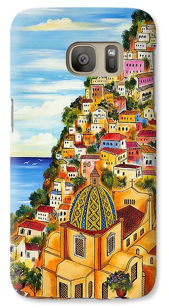 Galaxy Case featuring the painting Positano by Roberto Gagliardi