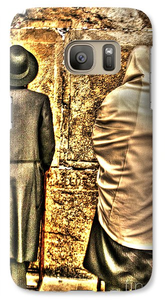 Galaxy Case featuring the photograph Praying At The Western Wall by Doc Braham