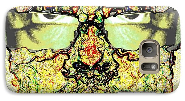 Galaxy Case featuring the mixed media Prescription Lens by Terence Morrissey