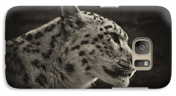 Galaxy Case featuring the photograph Profile Of A Snow Leopard by Chris Boulton